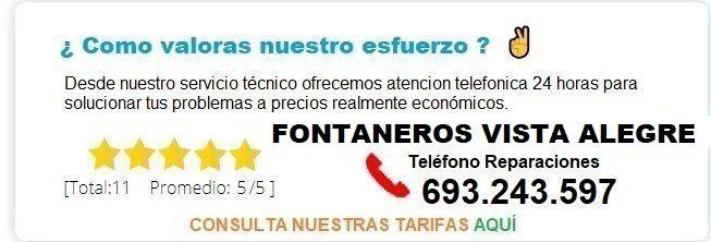 Fontanero Vista Alegre precio